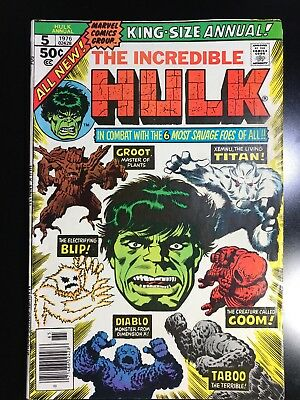 Marvel Incredible Hulk Annual 5 Groot 2nd Appearance 1976