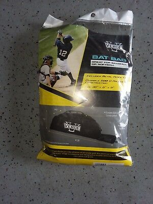 "NEW VERGE Tote Black Baseball Bat Bag Softball Equipment Carry 36"" x9"" Adult NIP"