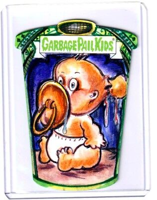 2019 Garbage Pail Kids We Hate The 90s SHAPED COLOR SKETCH 1/1 LILY Z MERCADO