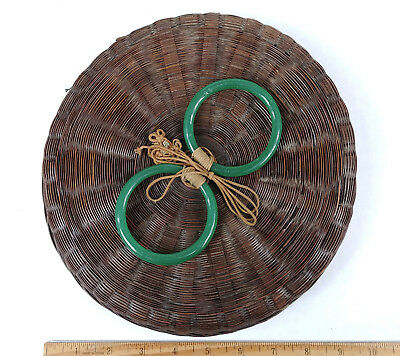 ANTIQUE Chinese Sewing Basket Betty-Lou Collection Jade Green Bangles csb 126