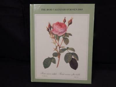 The Avon Calendar of ROSES 1983 Hardcover History or Roses Each Month Collectibl