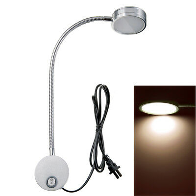 Wall Mount Reading Light Lamp Flexible Gooseneck or Bedside Reading Studio 5W