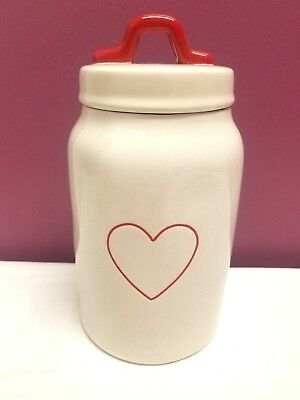 Rae Dunn by Magenta Valentine's Day Small Red Heart Canister HTF Rare Jar NEW