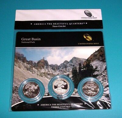 2013 Great Basin National Park ATB Quarters Three(3)-Coin Set SEALED
