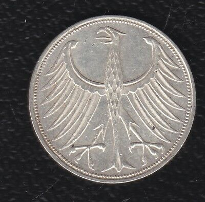 Germany 5 Mark 1966 Silver F