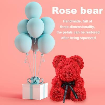 Red Rose Bear Flower Bear Wedding Birthday Party Valentine's Day Romantic Gifts