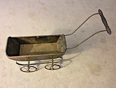 """Vintage Baby Doll Wood Metal Carriage Stroller: Approx. -18""""x8""""x6"""""""