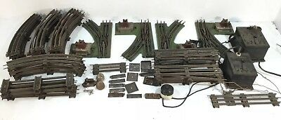 Lot: Pre-War Lionel O Gauge - 36 Track PIECES, 2 TRANSFORMERS B & R, 4 SWITCHES