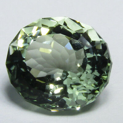 5.50Cts Natural Green Amethyst (prasiolite) Oval Custom Cut 12x10mm Ref VIDEO