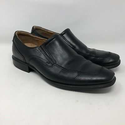 Ecco Helsinki Santiag Square Toe Black Leather Dress Shoes Mens Size