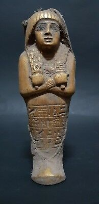 ANCIENT EGYPTIAN ANTIQUES USHABTI SHABTI Wrapped In Linen STATUE EGYPT STONE BC