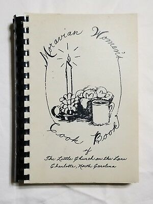 Vintage Moravian Women's Cook Book Charlotte NC 1981