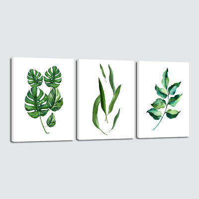 Canvas Prints Painting Pictures Wall Art Home Room Decor Green Leaves Abstract
