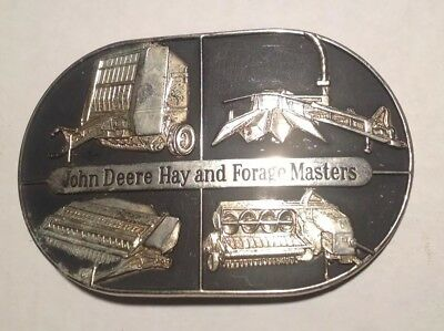 John Deere Ottumwa Hay Baler Forage Harvester Mower Conditioner Belt Buckle 1985
