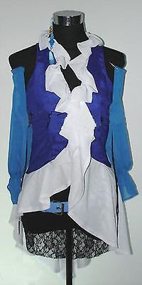 Halloween Yuna Lenne Songstress Costume Cosplay Final Fantasy SIZE SMALL