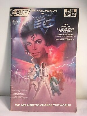 Vintage 1987 Eclipse Comics Michael Jackson as CAPTAIN EO 3-D Comic Book Glasses