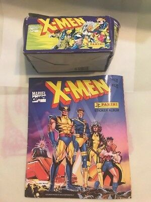 1994 X-MEN Panini Sticker album And A Box Of 100 Stickers