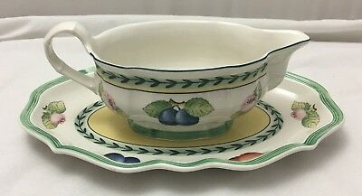 Villeroy & Boch French Garden - sauce jug / gravy boat and stand