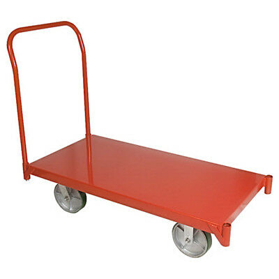 Platform Truck 48in Moving Warehouse Push Hand Cart Steel 4000 lbs Capacity Red