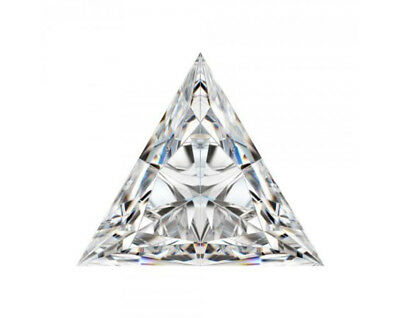 White(J-K) Triangle Loose Moissanite Excellent Cut 1 CT to 5 CT Sale 4 Ring
