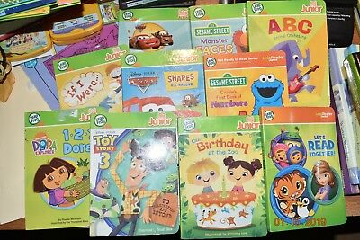 Lot or 10 Leap Frog Tag Junior Jr Reader Interactive Books Toy Story, Cars, Dora