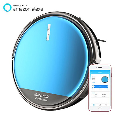 Proscenic 811GB Robot Vacuum Cleaner, Robotic Vacuum Cleaner with Boundary Water