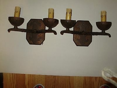 Spanish Revival Mission  Wall Scones Electric Pair Pretty!