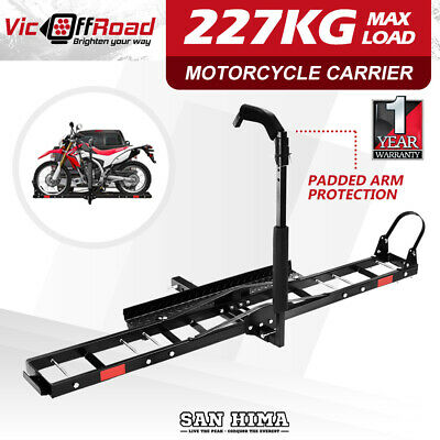 "SAN HIMA Motorcycle Motorbike Carrier Rack Dirt Bike Ramp Steel  2"" Towbar"