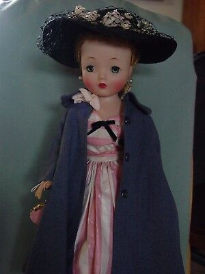 Madame Alexander Vintage Hard Plastic Mint Cissy Doll So Beautiful In Winter Co