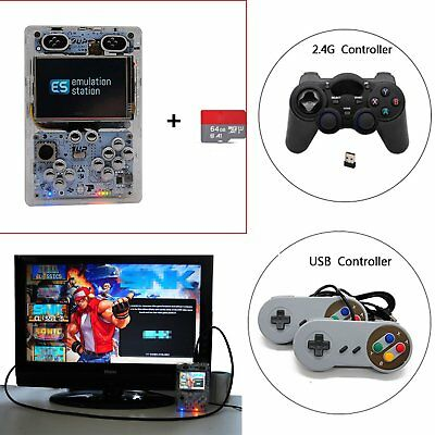 Raspberry Pi 3 B+ 3.5 Inch Console Built-in Over 10000 Games Handheld Player New