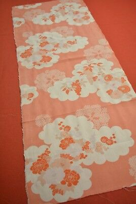 ML75/50 Vintage Japanese Kimono Fabric Silk Antique Boro Kusakizome 39.8""