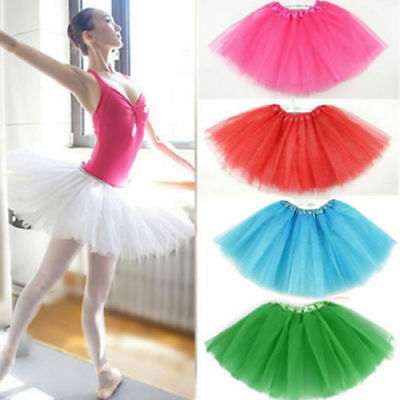 Women Lady Tutu Skirt Gym Party Ballet Dance Dress Dancewear Mini Skirt Costume