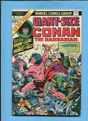 Giant-Size Conan The Barbarian #5 Elric Marvel Comics 1975 Barry Windsor Smith