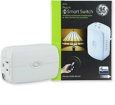 GE Z-Wave Wireless Smart Lighting Control Appliance Module, On/Off, Plug-In, Whi