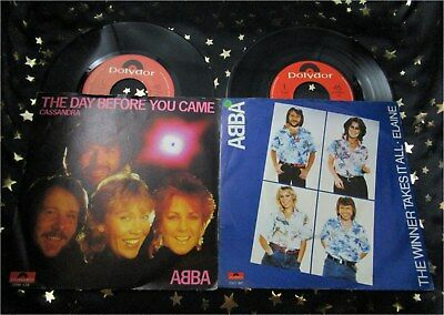 ABBA * 2 TOP NL Singles * THE WINNER TAKES IT ALL + THE DAY BEFORE YOU CAME