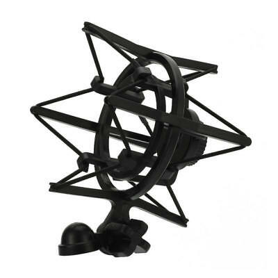 Universal Black Microphone Shock Mount Clip Holder Large Diameter Condens XYI