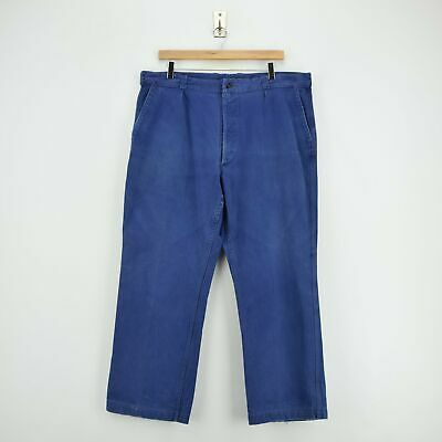 Vintage Workwear Blue Vetra French Work Utility Trousers France Made 36 W 28 L