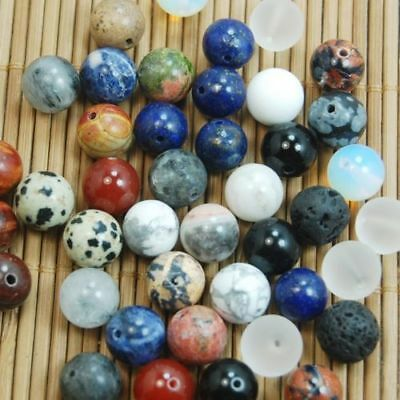 8mm 20Pcs Wholesale Mixed Natural Gemstone Round Spacer Beads DIY Jewelry Making