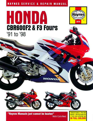 Haynes Workshop Manual Honda CBR600F2 & F3 Fours 1991-1998 599cc Repair