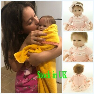 Real Live Life Reborn Baby Dolls 17 Inch Soft Silicone Vinyl Child Xmas Gift