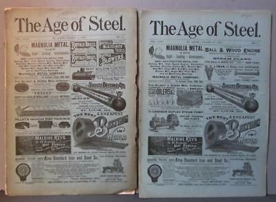 Two 1894  The Age of Steel Magazines