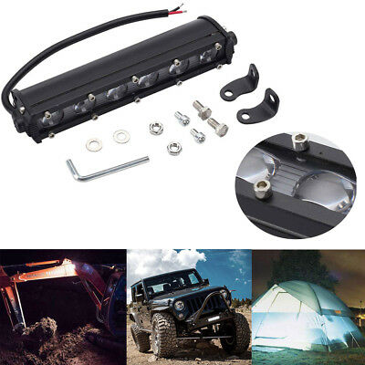 7 inch 60W Spot Beam Slim LED Work Light Bar Single Row Car SUV Off Road Lamps