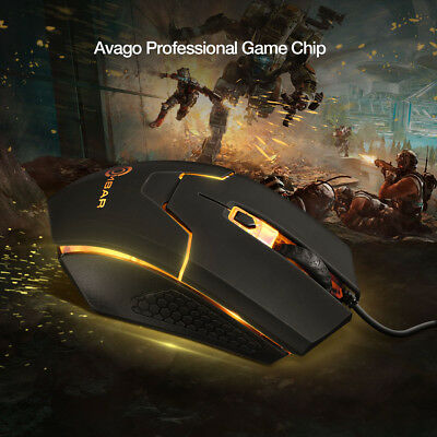 Ombar 4000DPI Gaming Mouse Wired Adjustable Optical Mice 6D For PC Computer USA