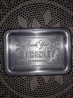Ex Vintage Schenley Reserve Whiskey Distillers NYC Aluminum Advertising Tip Tray