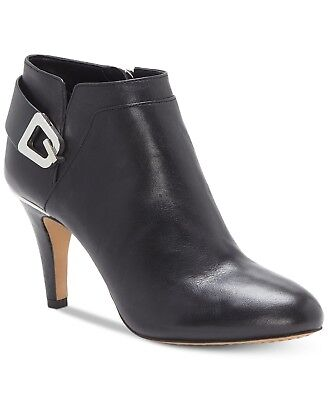 0a3b2e8265c8 VINCE CAMUTO CORRA Women s Black Leather Ankle Dress Booties US Size ...