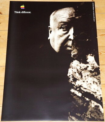 APPLE POSTER *THINK DIFFERENT * ALFRED HITCHCOCK * 28/20 inches MINT Steve Jobs