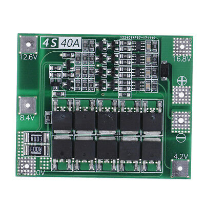New upgrade 4s/40a bms 14.8v/16.8v 18650 lithium battery protection board TH