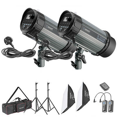 Neewer Wireless Strobe Flash Monolight 300W *2 Kit with Softbox and Trigger