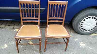 pair of edwardian bedroom chairs