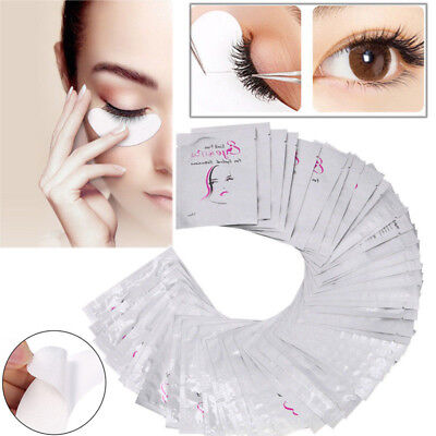50/200 x Under Eye Curve Eyelash Pads Gel Patch Lint Free Lash Extension Beauty